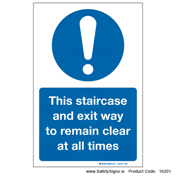 Keep Staircase Clear - 16201