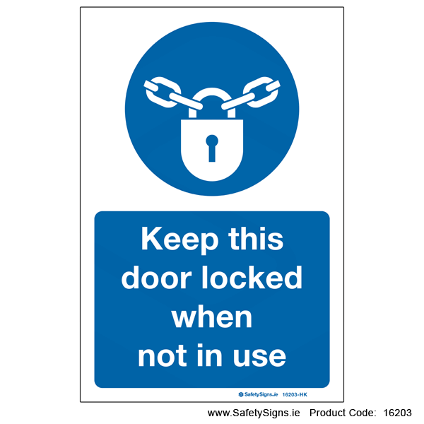 Keep Locked when not in Use - 16203