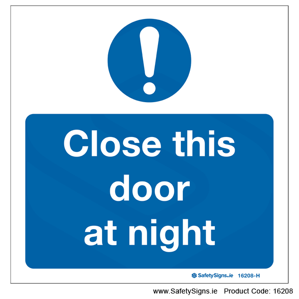 Close this Door at Night - 16208