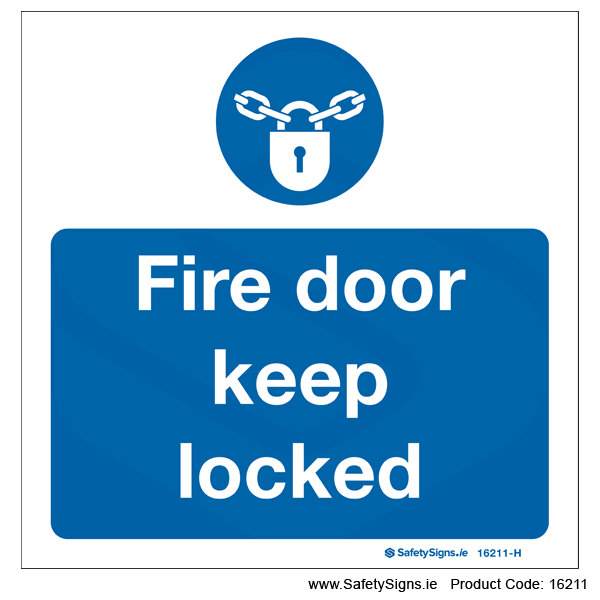 Fire Door Keep Locked - 16211