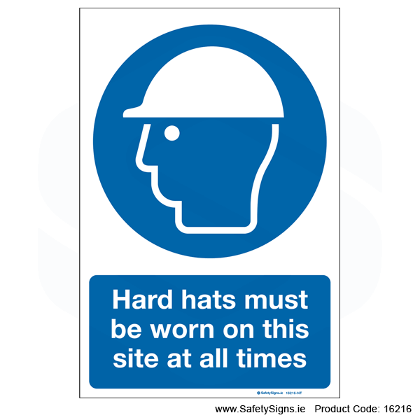 Hard Hats must be Worn - 16216