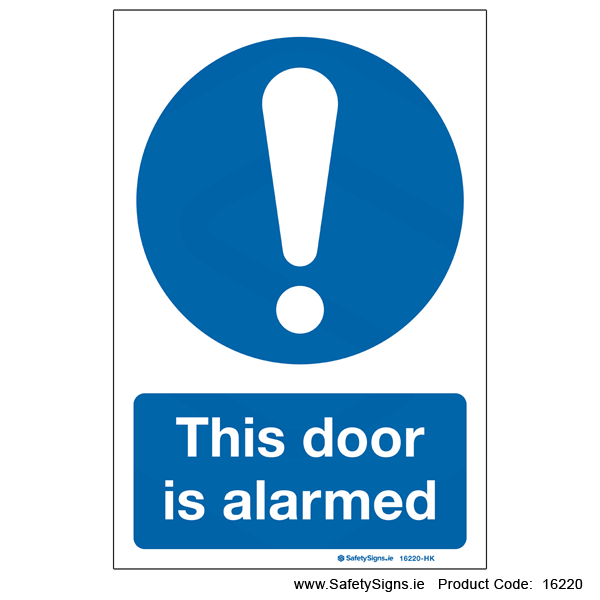 Door is Alarmed - 16220