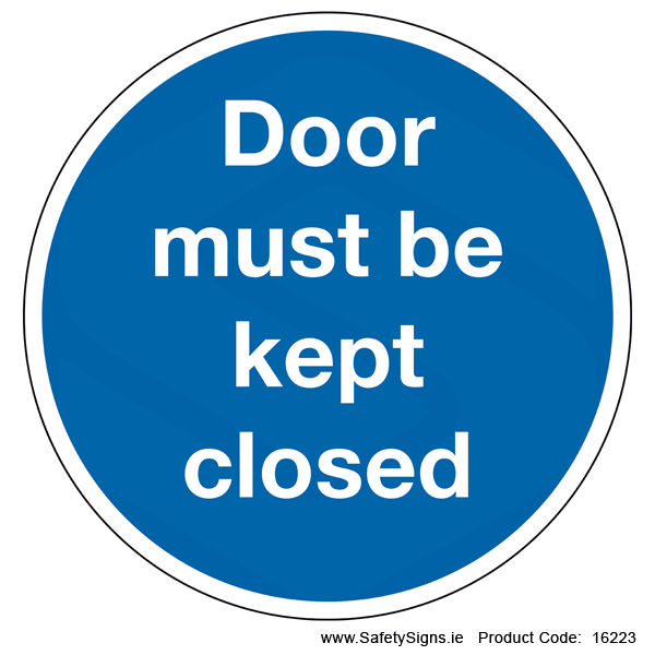Door must be kept Closed (Circular) - 16223