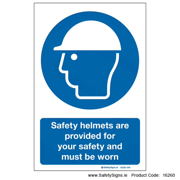 Safety Helmets Provided - 16260