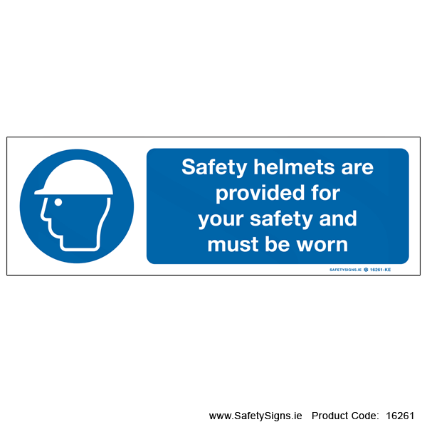 Safety Helmets Provided - 16261