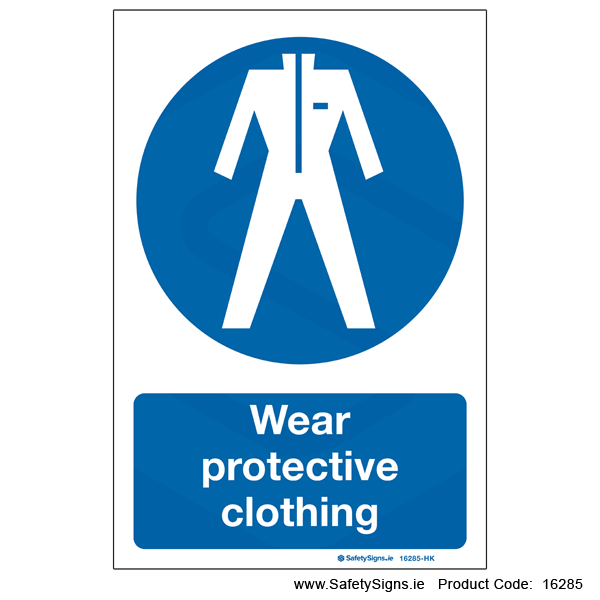 Wear Protective Clothing - 16285