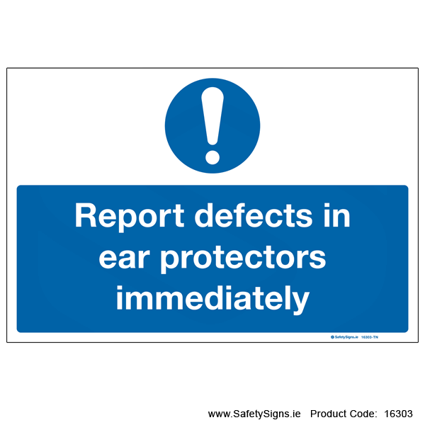 Defective Ear Protectors - 16303