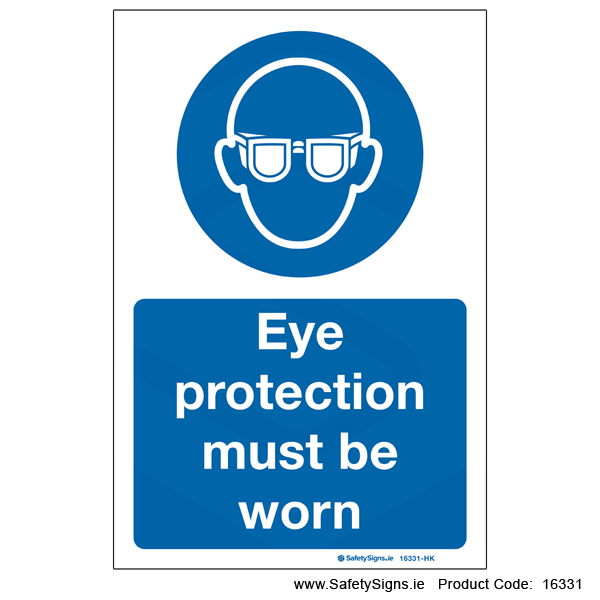 Eye Protection must be Worn - 16331