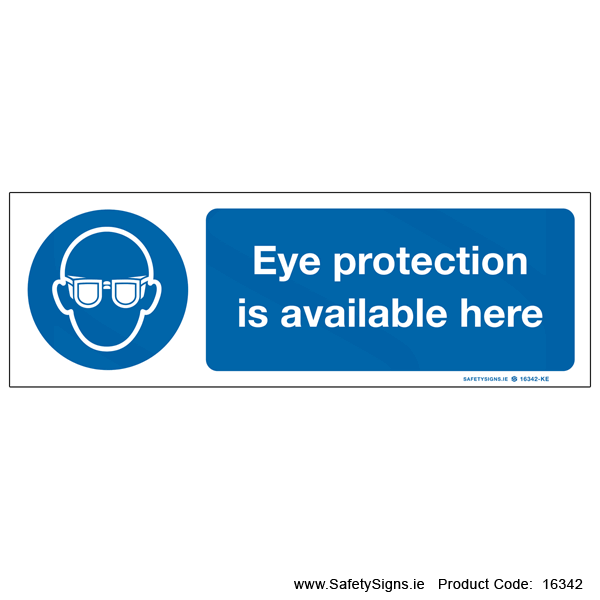 Eye Protection Available Here - 16342