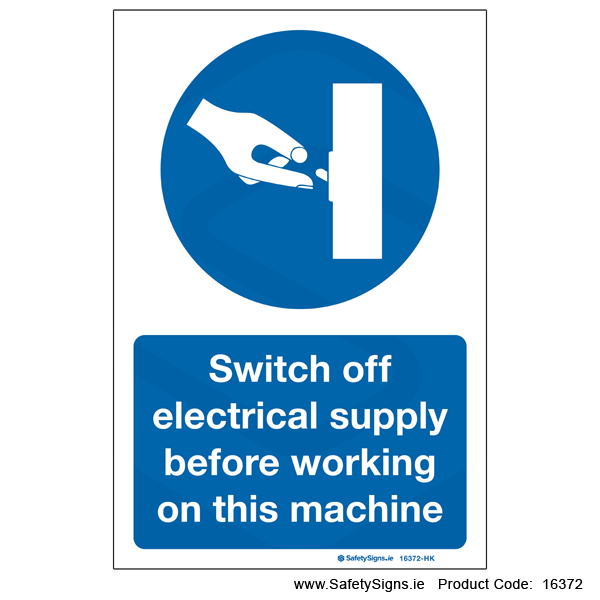 Switch Off Electrical Supply - 16372