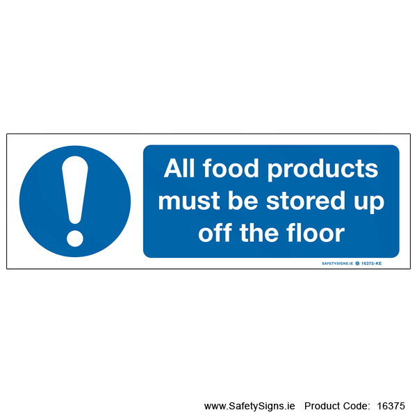 Store Food up off Floor - 16375