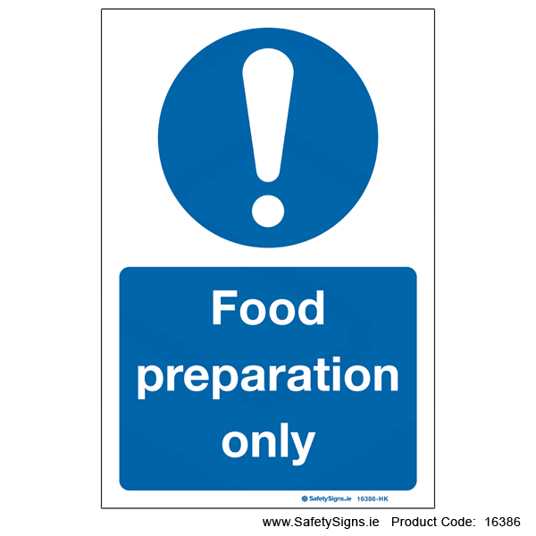 Food Preparation Only - 16386