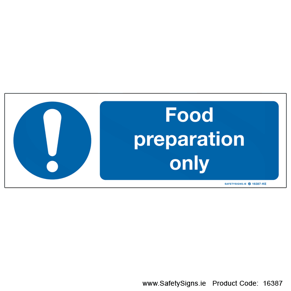 Food Preparation Only - 16387