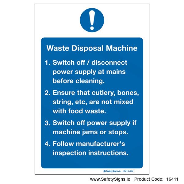 Waste Disposal Machine - 16411