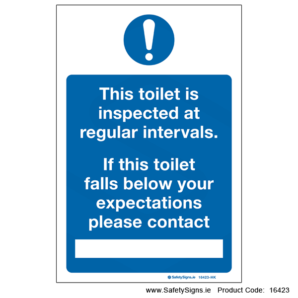 Toilet Inspection - 16423