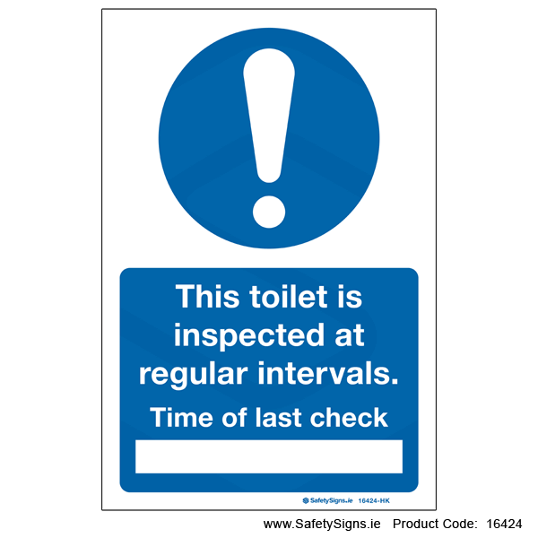 Toilet Inspection Check - 16424