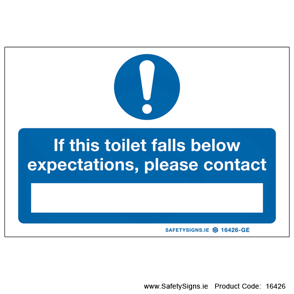 Toilet Falls Below Expectations - 16426