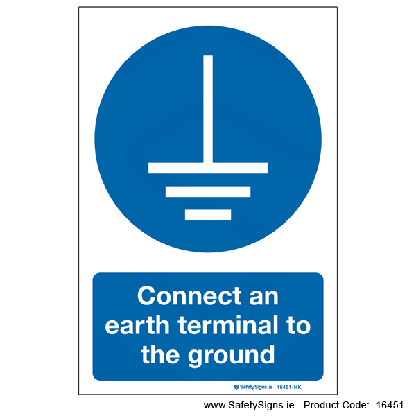 Connect Earth Terminal to Ground - 16451