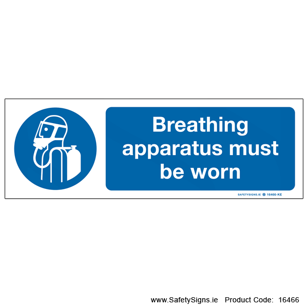 Breathing Apparatus must be Worn - 16466