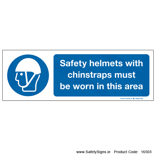 Safety Helmets with Chinstraps - 16503