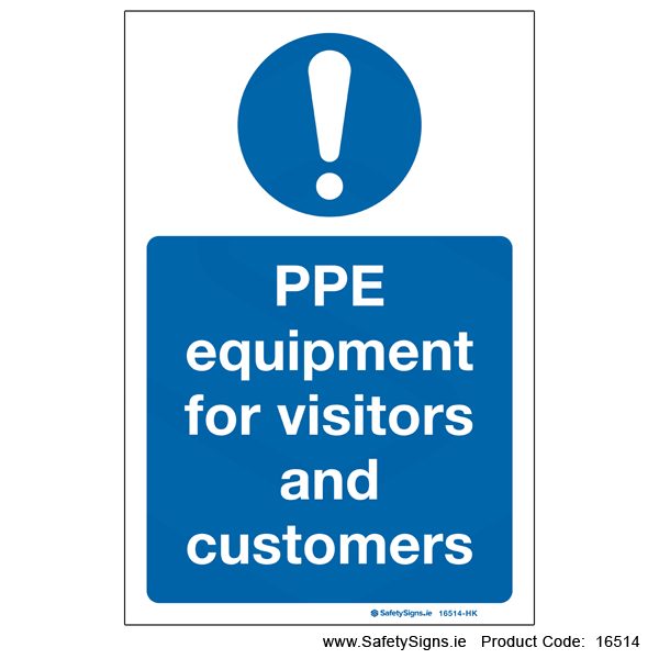 PPE for Visitors and Customers - 16514