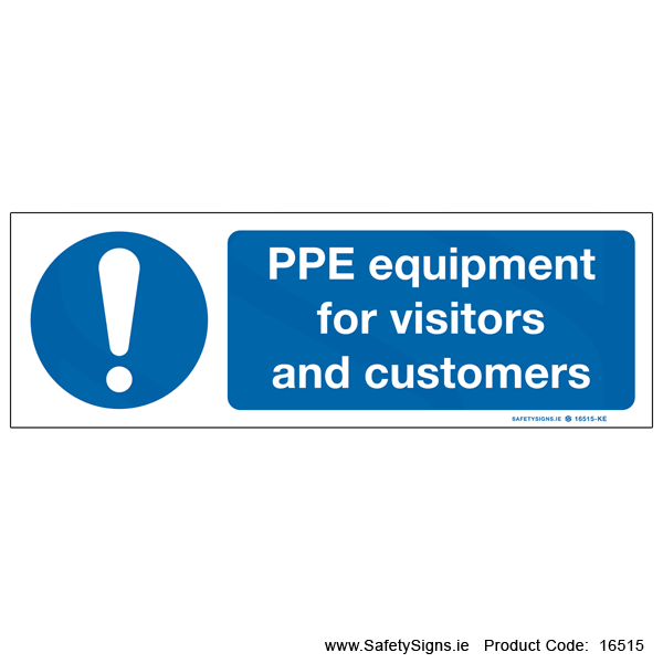 PPE for Visitors and Customers - 16515