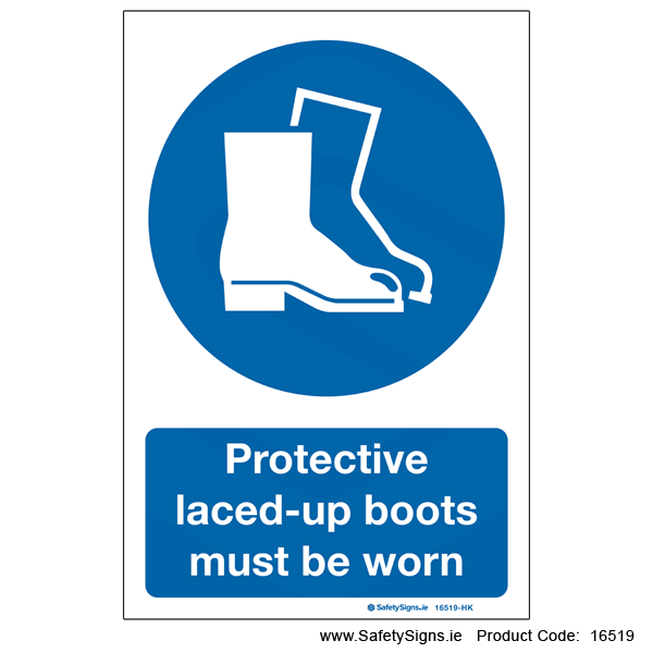 Protective Boots must be Worn - 16519