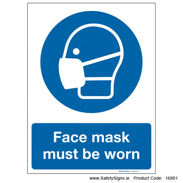 Face Mask must be Worn - 16801