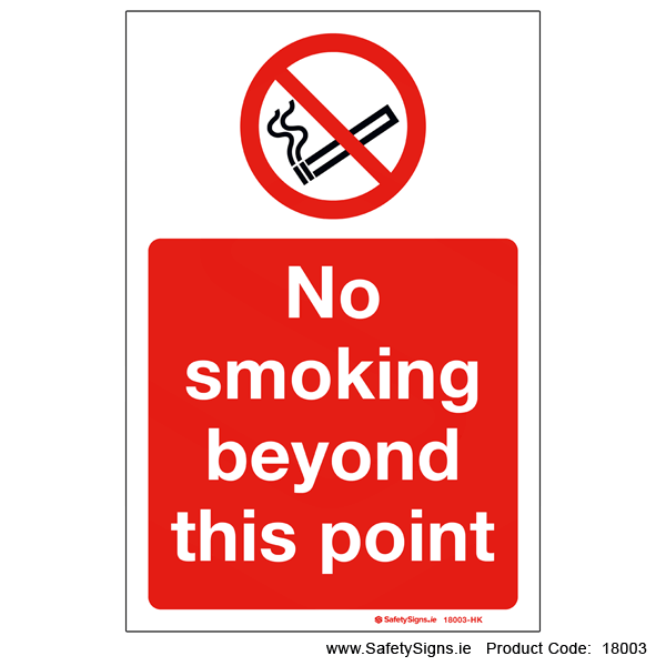 No Smoking beyond this Point - 18003