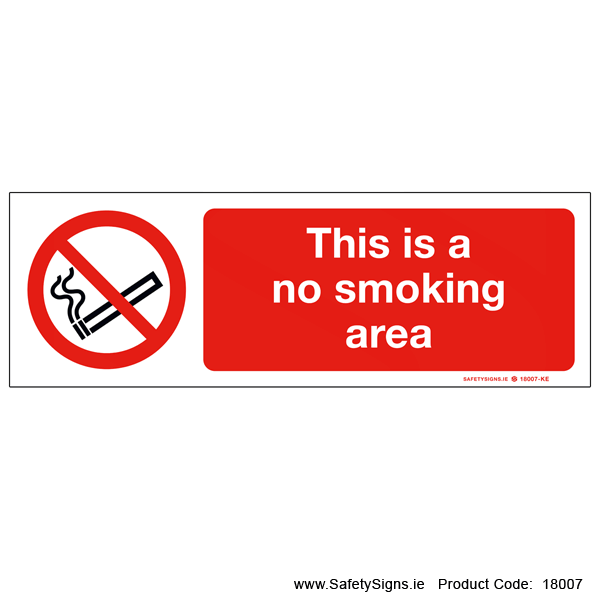 No Smoking Area - 18007