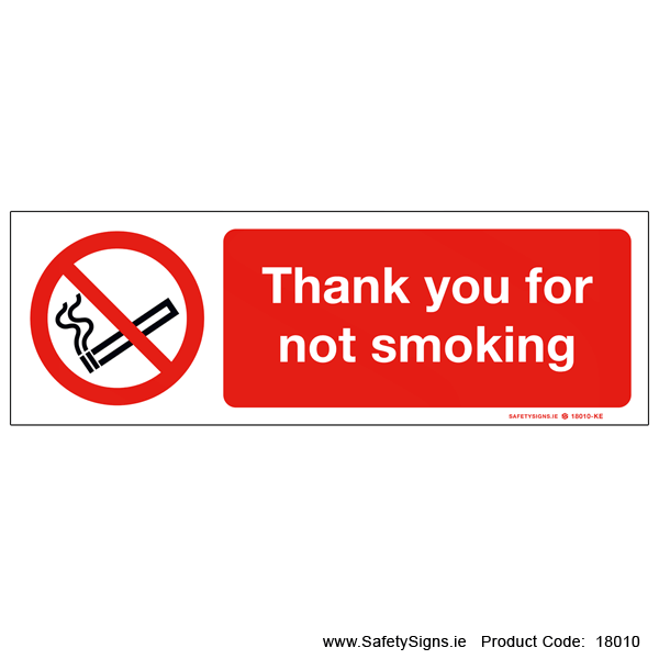 Thank you for not Smoking - 18010