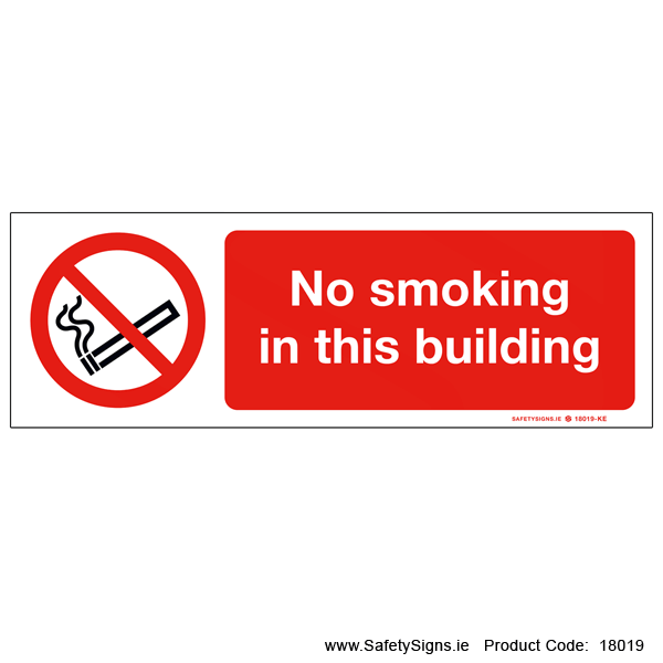 No Smoking in this Building - 18019