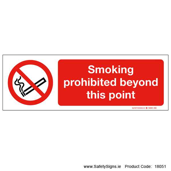 Smoking Prohibited Beyond this Point - 18051