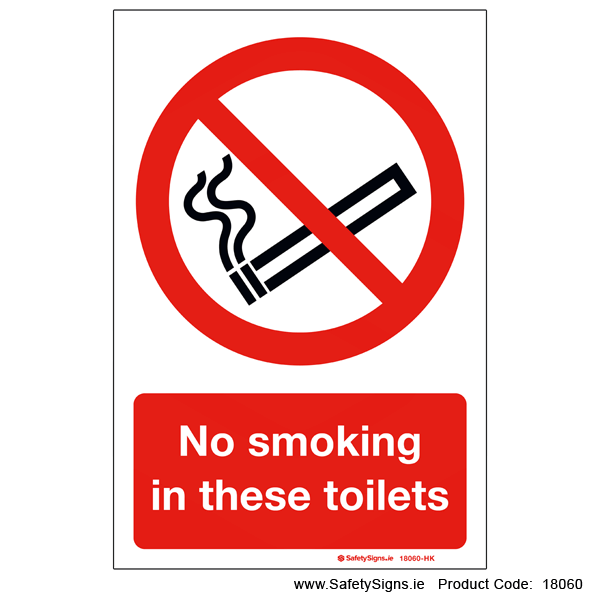 No Smoking in these Toilets - 18060
