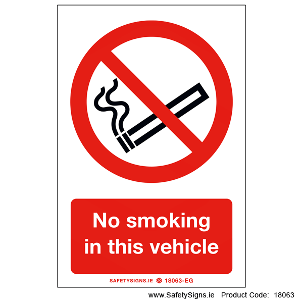 No Smoking in this Vehicle - 18063