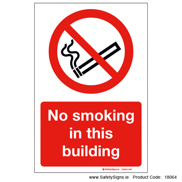 No Smoking in this Building - 18064
