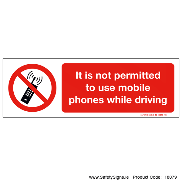 Mobile Phones Prohibited - 18079