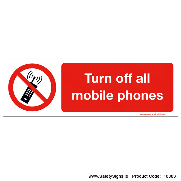 Turn off all Mobile Phones - 18083