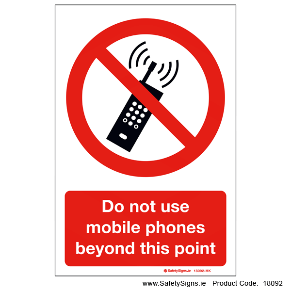 Do not use Mobile Phones - 18092