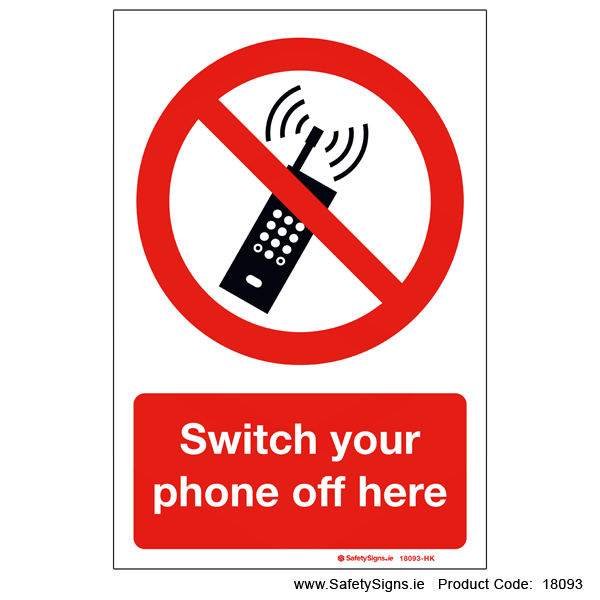 Switch your Phone off here - 18093