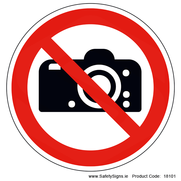 No Photography (Circular) - 18101