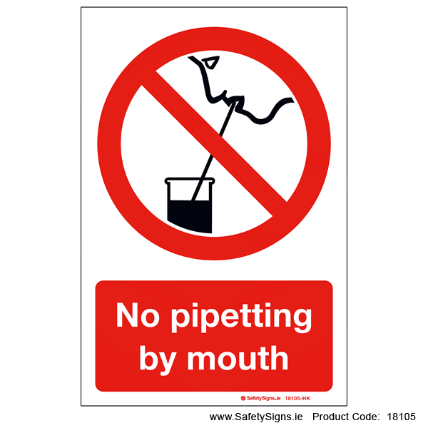 No Pipetting by Mouth - 18105