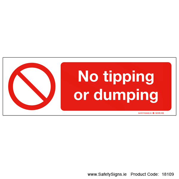 No Tipping or Dumping - 18109