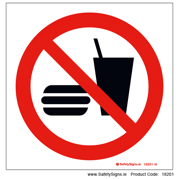 No Eating or Drinking - 18201