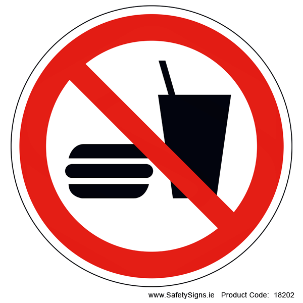 No Eating or Drinking (Circular) - 18202