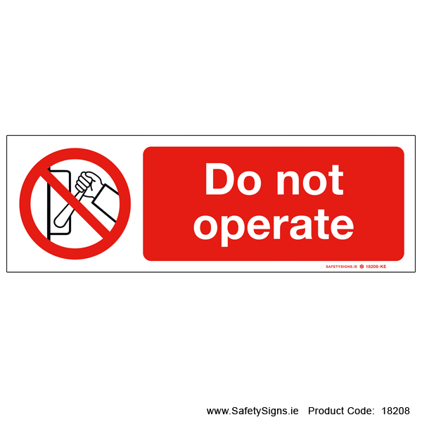 Do not Operate - 18208