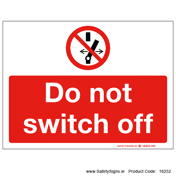 Do not Switch off - 18252