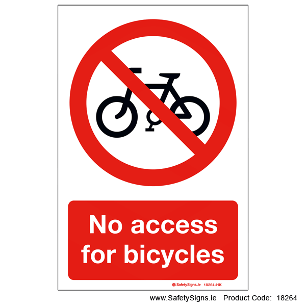 No Access for Bicycles - 18264