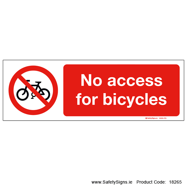 No Access for Bicycles - 18265