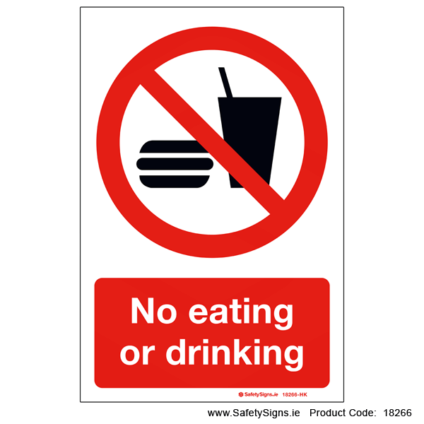 No Eating or Drinking - 18266